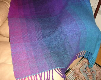 "Handwoven Blanket, Afghan, Throw, Handwoven Throw, Wool Throw, 48"" x 65"", SALE Original price 400.00,"