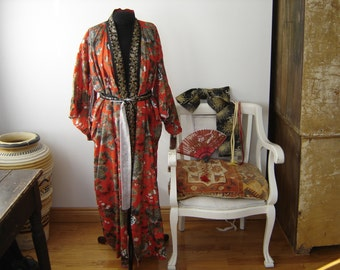 Silk Japanese Kimono With Accessories