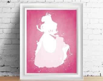 Disney Ariel Little Mermaid Pink Dress downloadable digital art print