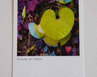 "map ""love"" fluo sheet shaped heart"