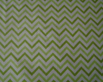 Lime Green Chevron Flannel Fabric by the yard