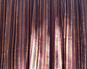 Curtains,70's 80's Corderoy Brown Thick Striped Curtains ,Vintage 70's 80's Home Decor/Curtains -(2 Panels)