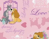 Disney Lady and the Tramp Allover - 1 yard - Springs Creative