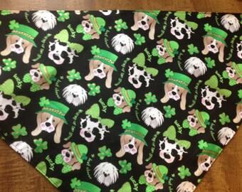 """31"""" Lucky Dogs St Patricks Day Doggy Bandana"""