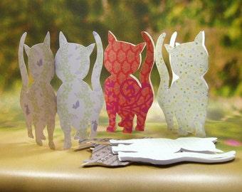 Kitten Card/ Hand Cutout Kitten Card/  Pop up Pets Card/ Pet Lover Card/ Love Cat Card