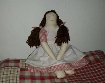 hand made rag doll
