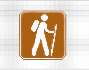 Hiking Road Sign | Pattern