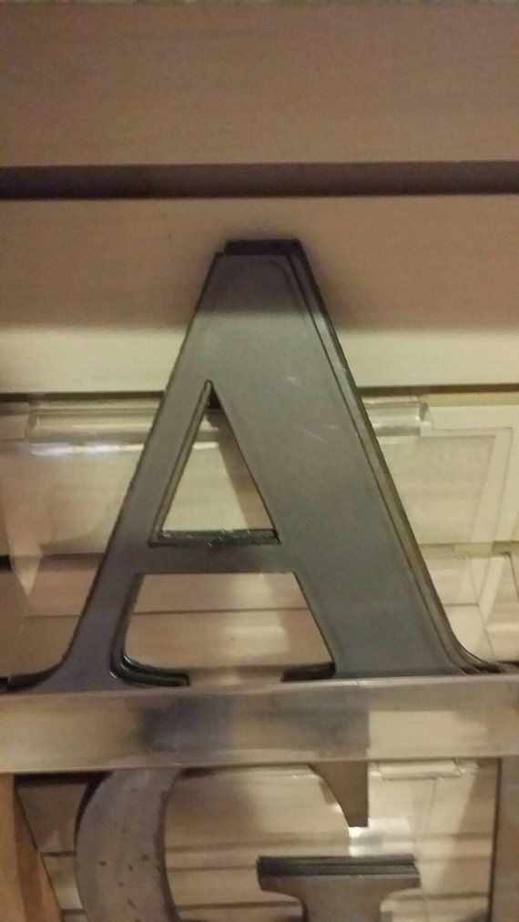 6 tall metal letters by treeghostmetalart on etsy With tall metal letters