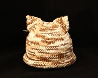 Newborn - Kitty cat - knit baby hat - baby knit hat  - baby hat knit - newborn knit hat - knit hat newborn - newborn photo prop