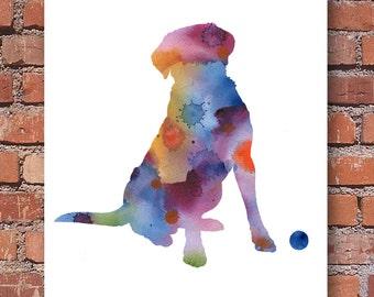 Labrador Retriever Watercolor - Abstract Painting - Wall Decor