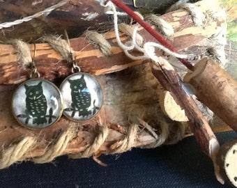 Owl Earrings Woodland Earrings Women's earrings