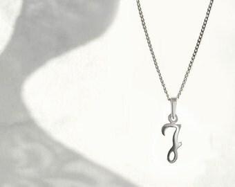 Capital Letter J Necklace J, Alphabet Letter Charm, 925 Sterling Silver, Initial J Charm, J Letter Chain Necklace,  Unique Jewelry