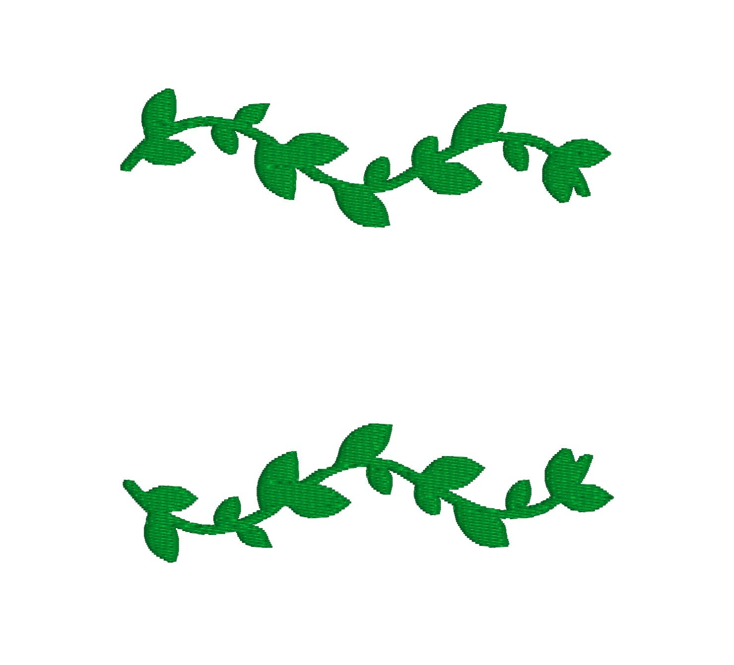 Buy 2, Get 1 Free  Green Vine Border, Flourish, Line, Leaves Machine  Embroidery Design In 3 Sizes  4x4, 5x7, 6x10