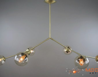 Modern Branching Bubble Chandelier Solid Brass