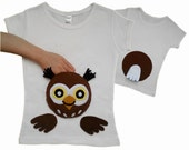 kids clothes, owl shirt, Owl, owl t shirt, girly owl, girls owl shirt, owl baby clothes, cute kids clothes, toddler owl shirt, tshirt owl