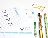 16 Hair Appointment (crossed) Label Stickers! Perfect for your Erin Condren Life Planner, Filofax, Kikkik, Plum Paper Planner! #SQ00352