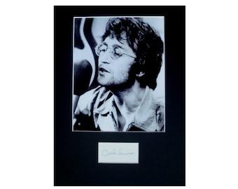 JOHN LENNON AUTOGRAPH photo display The Beatles