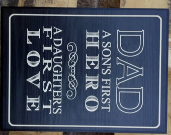 "Dad plaque 6x8"""