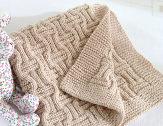 Knitting Pattern Baby Blanket Double Knitting : Knitting Pattern Baby Blanket Reversible by matildasmeadow ...