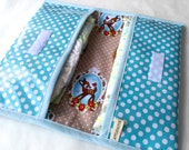 Diaper clutch - clutch in laminated cotton - small diaper bag - Diaper holder - for boys or girls (ready to ship)