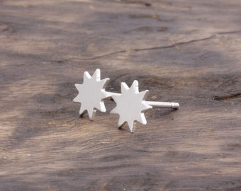 925 stering silver lovely spurs stud earrings (E_00030)