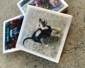 Custom Mini Photo Tile Magnet_SET OF 4