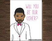 Funny Wedding Usher, Best Man Card, Pop Culture, Will you be Our Usher?