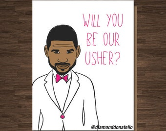 Funny Wedding Usher, Best Man Card, Will you be Our Usher?, Funny Groomsman Card
