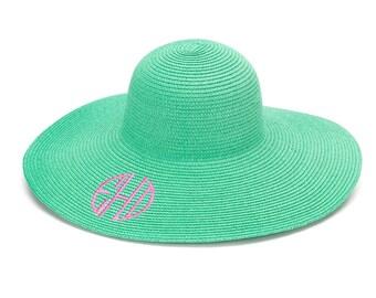 Preppy Monogram Floppy Sun Hat! 8 Colors!