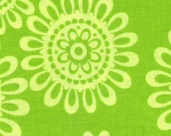 Ooh La La Fleurs du Soleil Micheal Miller Cotton Fabric DC5200 Lime, By the Yard