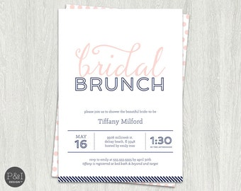 Bridal Shower Invitation | Bridal Brunch Invites |  Customized Digital Printable File (5x7)