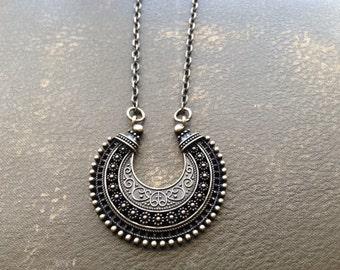 Boho Tribal Pendant Necklace
