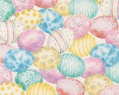 Easter Eggs Fabric, Robert Kaufman D#71249 Pastel Eggs, Easter Quilt Fabric, Cotton Easter Fabric, Pink, Turquoise, Yellow, Aqua Cotton