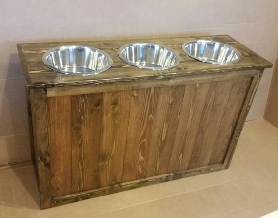 Extra Large Rustic Dog Feeder Great Dane Dog By Lilbitrustic