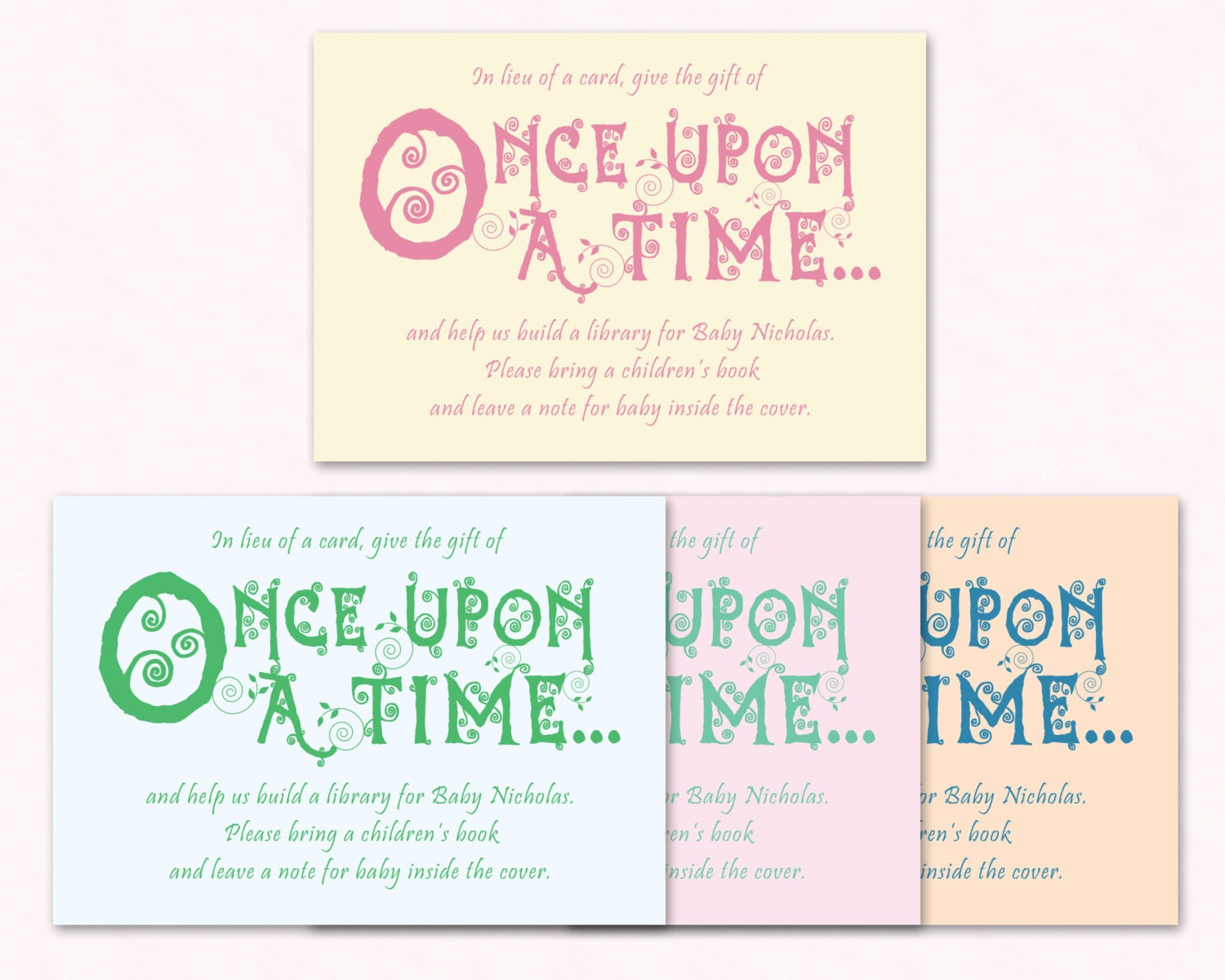 baby shower invitation insert printable book request card