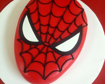 Spiderman cake etsy for Spiderman template for cake