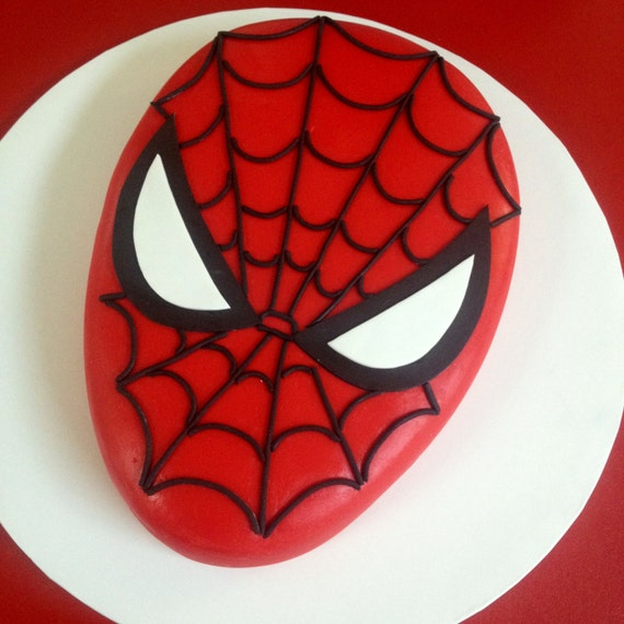 Instant download paper pattern to make your own spiderman for Spiderman template for cake