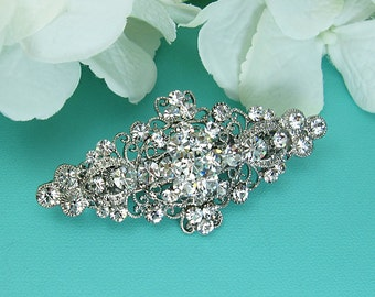 Bridal Rhinestone Barrette, Bridal Comb Crystal, Wedding Crystal Hair Comb, Hair Barette, Wedding Accessory, Bridal Barrette Clip 210676500