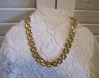 Vintage choker length chain necklace