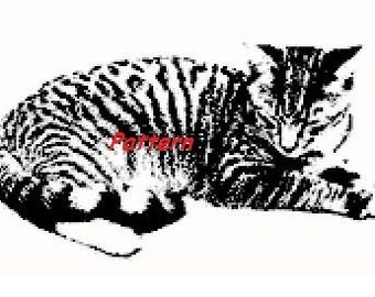 Cat #2. Cross Stitch Pattern. PDF Files.