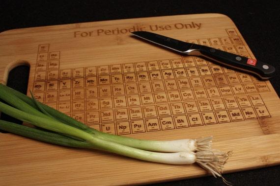 Küchenbrett mit Periodensystem