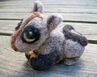 Needle Felted Kitten, Wool Felted Cat