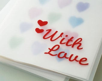 """With Love Design 9""""x12"""" Personalized Portfolio to organize kids art and cards"""