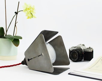 Multifunctional Industrial table Lamp. Raw steel pendant lamp