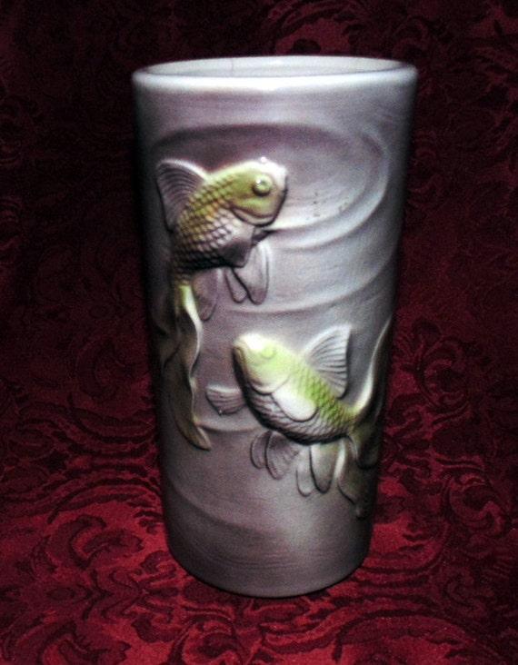 Vintage royal copley koi fish vase by simplymarvelousmary for Koi fish vase