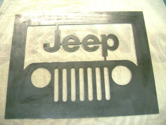 Jeep Raw Metal Sign 14 Gauge Metal Plasma Cut