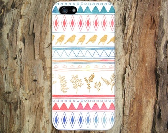 Birds x Plants Hand-Drawn Tribal Design Case for iPhone 6 6 Plus iPhone 7  Samsung Galaxy s8 edge s6 and Note 5  S8 Plus Phone Case
