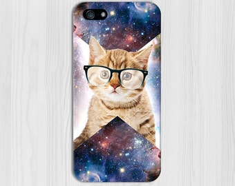 Geometric Cat in Space Case for iPhone 6 6 Plus iPhone 7  Samsung Galaxy s8 edge s6 and Note 5  S8 Plus Phone Case, Google Pixel
