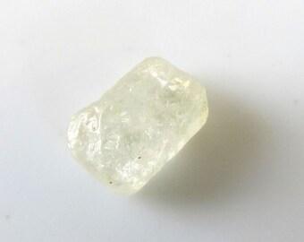 1pcs 10x7x4mm ceylon sapphire white rough free form stone