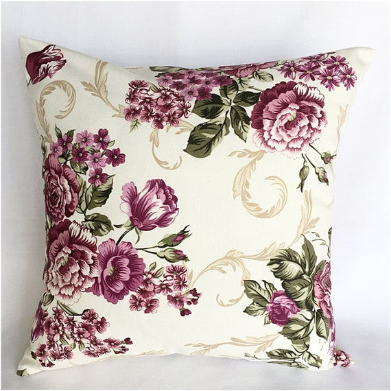 Throw Pillows For Maroon Couch : Items similar to Burgundy pillow,Roses pillow,flower Throw pillow,toss pillows,40 x 40 cm ...